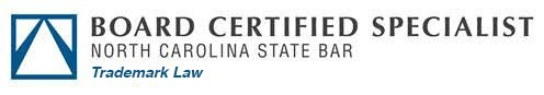 logo for Board Certified Specialist, North Carolina State Bar, Trademark Law